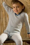 Hocosa Wool Silk Striped Long Sleeved Shirt