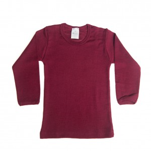 Hocosa Wool Silk Long Underwear in Bordeaux